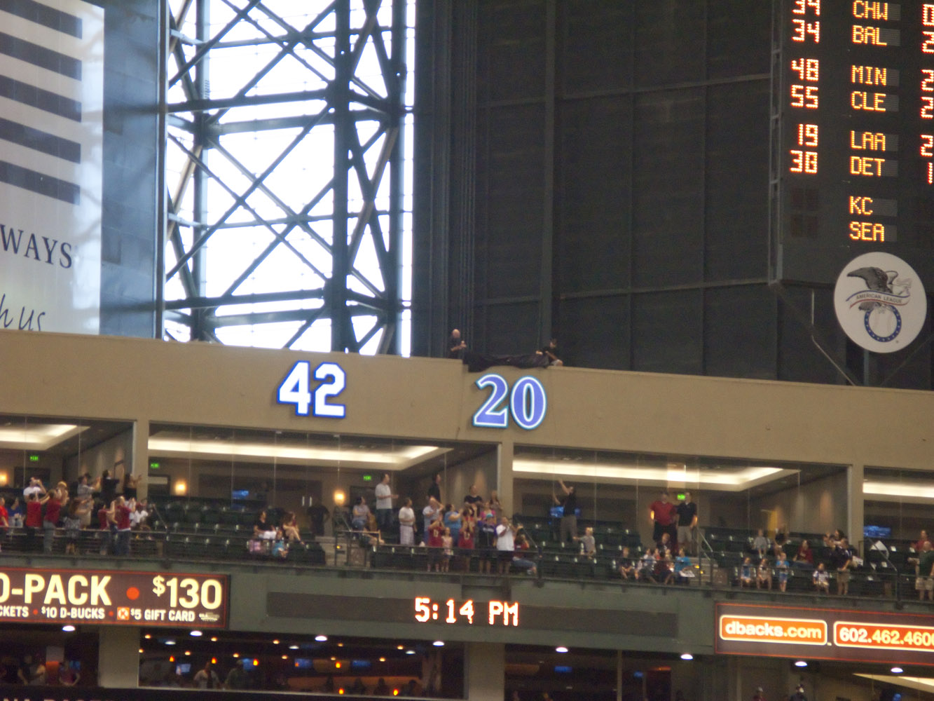 The Retired Number 42 At Chase Field Diary Of A Diehard