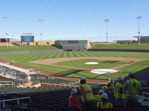 View from home plate at Salt River Fields at Talking Stick