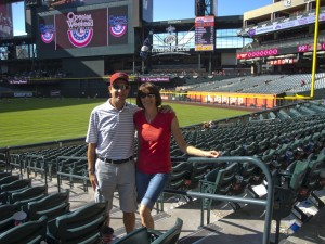 Jeff & Trina at the ballpark