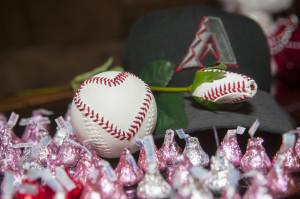 Baseball Rose with Heart Baseball